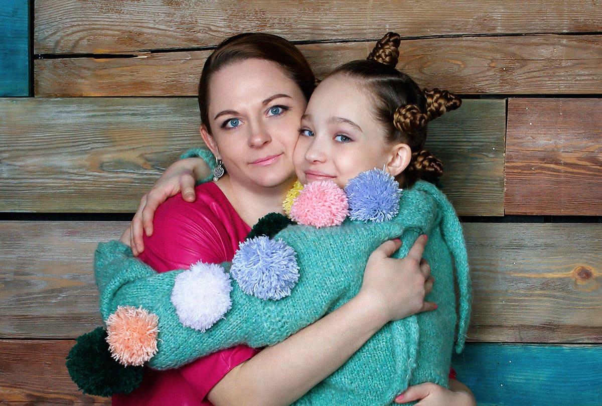Саша Киселёва с мамой
